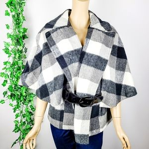 Checkered Belted Jacket Large